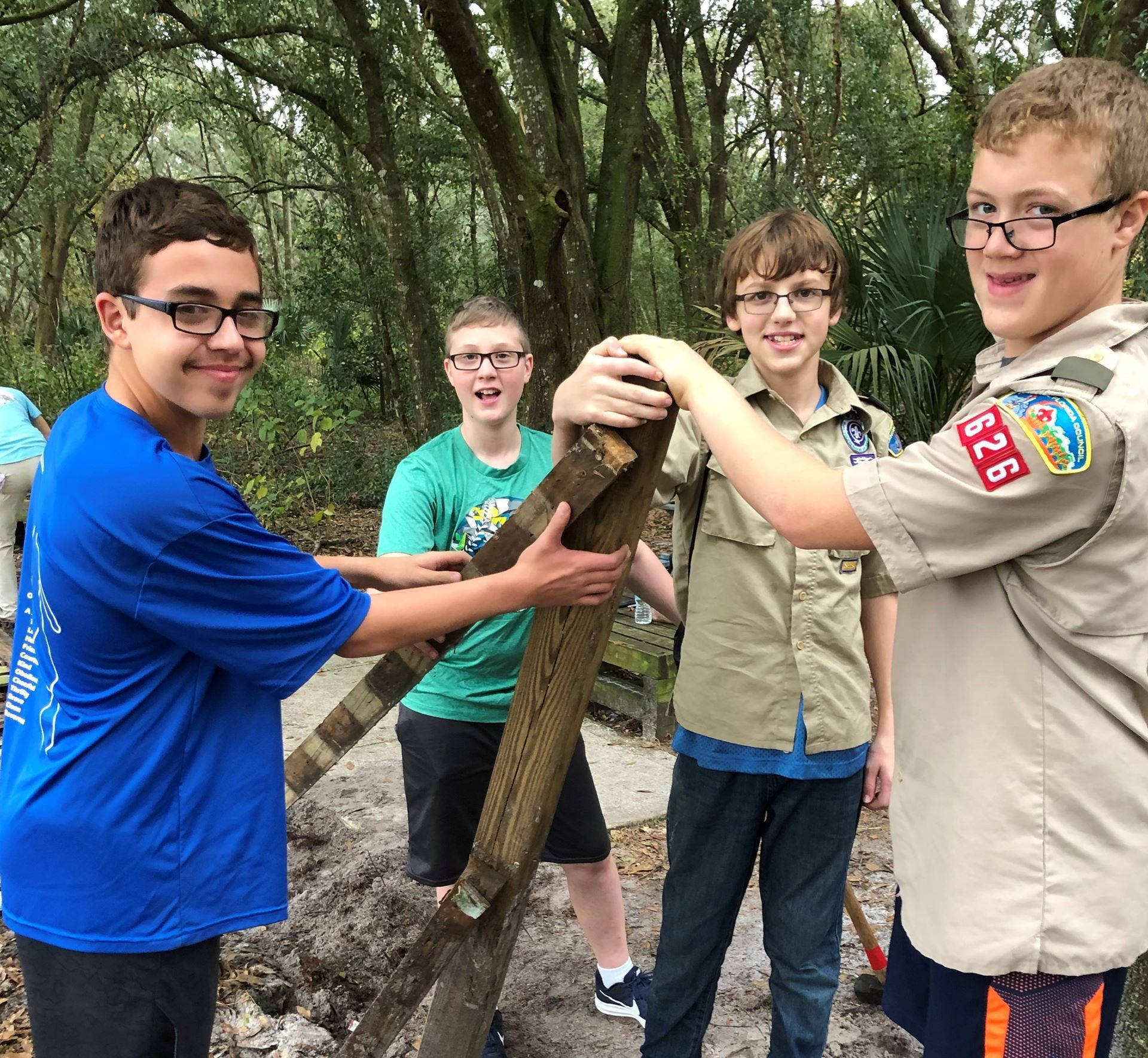 Photo Boy Scouts of Troop 626 Completing Project